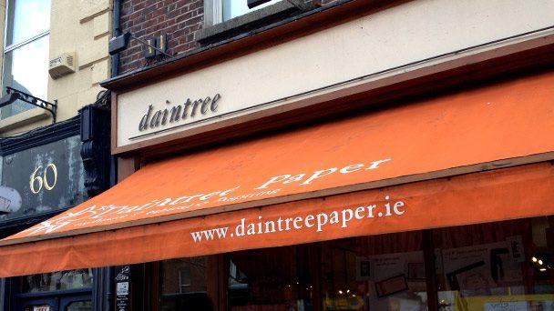 Achado em Dublin: Daintree Paper