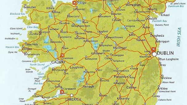 Imigrando: Mapas irlandeses